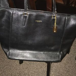 Nice All Black Coach work Bag